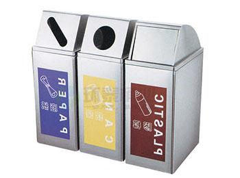 三色多分类不锈钢垃圾筒HT-BXG1390,不锈钢,千赢国际登录,HT-BXG1390,不锈钢,千赢国际登录,HT-