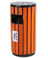 带烟缸圆柱形钢木小圆桶HT-GM6090