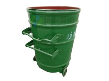 环卫挂车绿色铁皮圆形大铁桶HT-GZ4860,环卫,挂车,绿色,铁皮,圆形,铁桶,HT-GZ5660,环卫