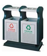 绿色分类冲孔钢制垃圾箱HT-GZ5160