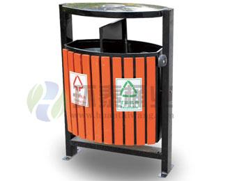 户外木条分类垃圾箱HT-GM6230,钢木,千赢国际登录,钢木,千赢国际登录,