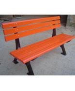防腐木铸铁脚休闲园林椅HT-XXY363