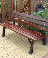 有靠背铸铁脚室外休闲椅HT-XXY394