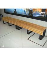 无靠背可加长型防腐木休闲椅HT-XXY416