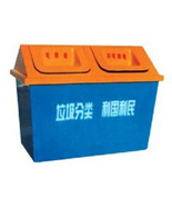 广场玻璃钢分类垃圾屋HT-BLG2450