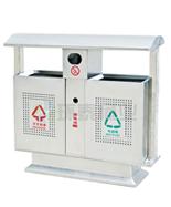 户外不锈钢分类垃圾筒HT-BXG1050