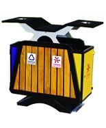 翼型木条分类果皮箱
