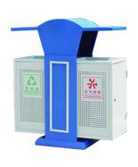 蓝色分类钢制垃圾箱HT-GZ8810