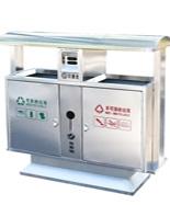 户外不锈钢分类垃圾箱HT-BXG1080