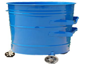 环卫挂车蓝色铁皮圆形大铁桶HT-GZ4880