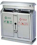 不锈钢分类垃圾箱HT-BXG1370