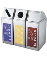 三色多分类不锈钢垃圾筒HT-BXG1390