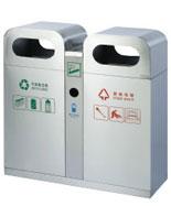 拱形盖不锈钢分类垃圾箱HT-BXG1500