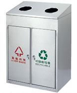 方形不锈钢分类垃圾箱HT-BXG1550