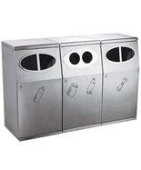 三分类不锈钢垃圾箱HT-BXG1600