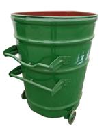 环卫挂车绿色铁皮圆形大铁桶