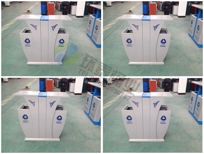 供应四川广元市新式钢制分类垃圾桶ht-gz7920