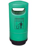 绿色圆柱造型玻璃钢千赢国际登录HT-BLG2120