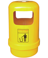 户外黄色圆形玻璃钢千赢国际登录HT-BLG2210