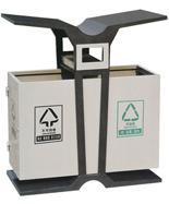 翼型分类钢制果皮箱HT-GZ4530