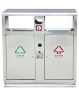 户外分类不锈钢果皮箱HT-BXG1680