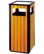方形户外钢木果皮箱HT-GM6420