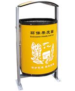 黄色圆形造型环保垃圾筒HT-HB403