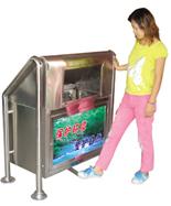 不锈钢户外分类垃圾箱HT-BXG610