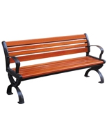 户外带靠背铸铁椅脚园林休闲椅HT-XXY320