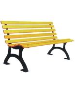 带靠背塑木园林休闲椅HT-XXY332